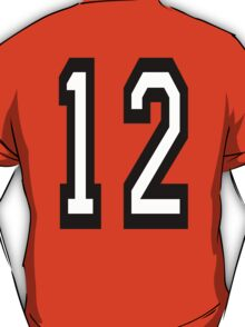 TEAM SPORTS, NUMBER 12, TWELVE, TWELFTH, Competition T-Shirt