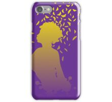 Girl with butterflies iPhone Case/Skin