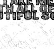Beautiful Scars lyrics Sticker