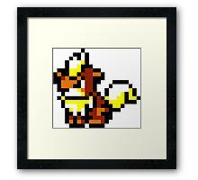 Pokemon 8-Bit Pixel Growlithe 058 Framed Print