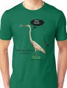 Damn Tourist ! with Tybee Island, Georgia logo Unisex T-Shirt