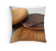 Cookies on a white plate Throw Pillow