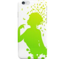 Girl with butterflies 3 iPhone Case/Skin