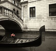 pink flowers and gondola by sumners