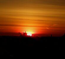sun peeking out by Cheryl Dunning