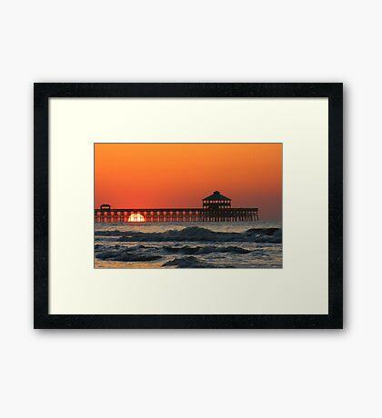 Folly Beach Pier, SC Framed Print
