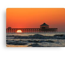 Folly Beach Pier, SC Canvas Print