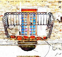 Agropoli: window and terrace by Giuseppe Cocco