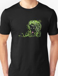 Girl with floral hair Unisex T-Shirt