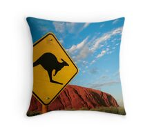 kangaroo rock Throw Pillow
