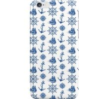 Blue and White Nautical Pattern iPhone Case/Skin