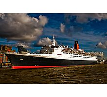 QE2 Visits Liverpool for the Final Time Photographic Print