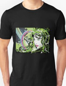 Girl with floral hair 3 Unisex T-Shirt