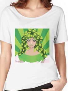 Girl with floral hair 4 Women's Relaxed Fit T-Shirt