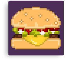 Pixel Food - Cheesburger Canvas Print