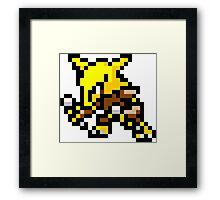 Pokemon 8-Bit Pixel Alakazam 065 Framed Print