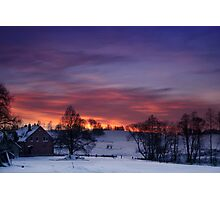 Farmstead in the evening Photographic Print