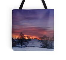 Farmstead in the evening Tote Bag