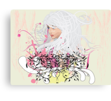 White hair girl Canvas Print
