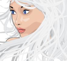 White hair girl 2 Sticker