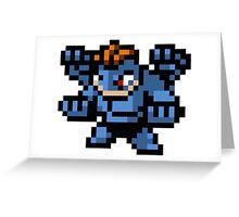 Pokemon 8-Bit Pixel Machamp 068 Greeting Card