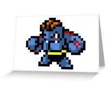 Pokemon 8-Bit Pixel Machoke 067 Greeting Card