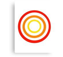 Colored circles Canvas Print