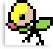 Pokemon 8-Bit Pixel Bellsprout 069 Canvas Print