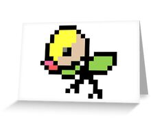 Pokemon 8-Bit Pixel Bellsprout 069 Greeting Card