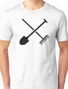 Black shovel rake Unisex T-Shirt