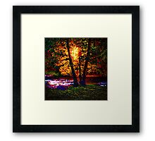 Hiding River Lantern Framed Print