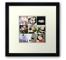 Wedding collage Framed Print