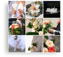 Wedding collage Canvas Print