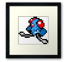 Pokemon 8-Bit Pixel Tentacool 072 Framed Print