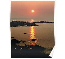 Sunset in Skerries Poster