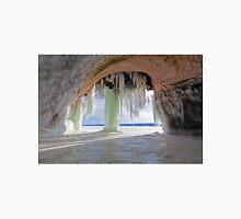 Cave and Ice Curtains on Grand Island near Munising Michigan Unisex T-Shirt
