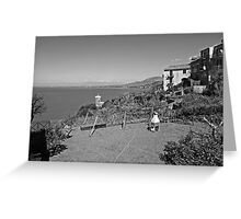 Agropoli: landscape with sea Greeting Card