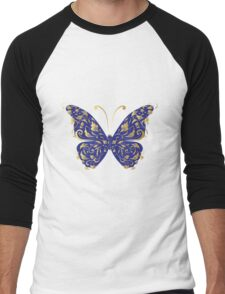 Butterfly, ornate Men's Baseball ¾ T-Shirt
