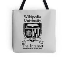 Wikipedia University Tote Bag