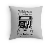 Wikipedia University Throw Pillow