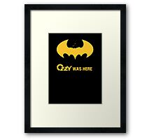 Ozzy was here Framed Print