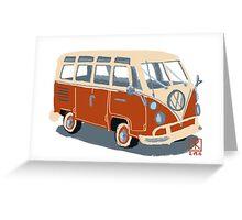 VW Bus Greeting Card