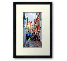 Narrow Street Art Framed Print