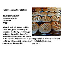 Peanut Butter Cookies & Recipe Photographic Print