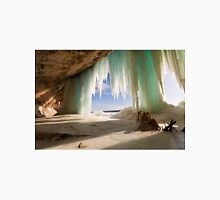 Cavern behind ice curtains on Grand Island on Lake Superior T-Shirt