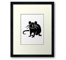 Black rat mouse Framed Print