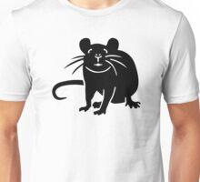 Black rat mouse Unisex T-Shirt