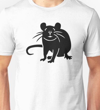 Black rat mouse Unisex T-Shirt