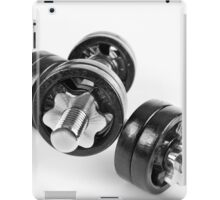 Chrome screwed hand barbells weights iPad Case/Skin