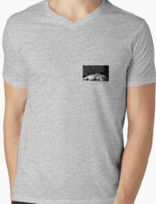Chilling Looking Mens V-Neck T-Shirt